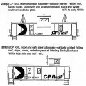 CDS DRY TRANSFER N-228 CANADIAN PACIFIC CABOOSE