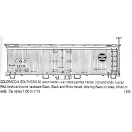 CDS DRY TRANSFER N-233  COLORADO & SOUTHERN 30' WOOD REEFER