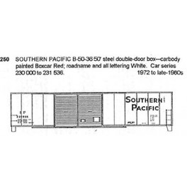 CDS DRY TRANSFER S-250  SOUTHERN PACIFIC 50' DOUBLE DOOR BOXCAR