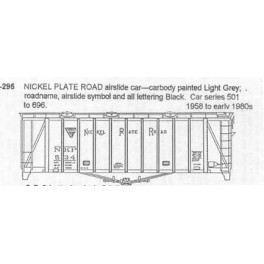 CDS DRY TRANSFER N-295  NICKEL PLATE ROAD SINGLE BAY AIRSLIDE - N SCALE