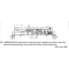 CDS DRY TRANSFER S-296 CANADIAN PACIFIC DIESEL LOCOMOTIVE