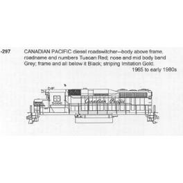 CDS DRY TRANSFER N-297 CANADIAN PACIFIC DIESEL LOCOMOTIVE