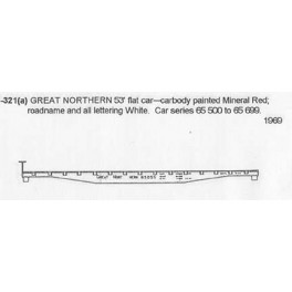 CDS DRY TRANSFER S-321  GREAT NORTHERN 53' FLAT CAR