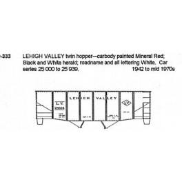 CDS DRY TRANSFER S-333  LEHIGH VALLEY 2 BAY HOPPER