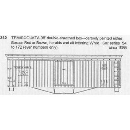 CDS DRY TRANSFER N-362  TEMISCOUATA 36' BOXCAR