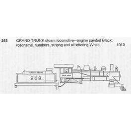 CDS DRY TRANSFER G-368  GRAND TRUNK STEAM LOCOMOTIVE