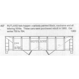 CDS DRY TRANSFER S-427  RUTLAND 2 BAY HOPPER