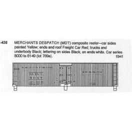 CDS DRY TRANSFER N-438  MERCHANTS DESPATCH 40' REEFER