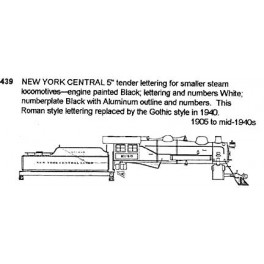 CDS DRY TRANSFER N-439  NEW YORK CENTRAL SMALL STEAM LOCOMOTIVE