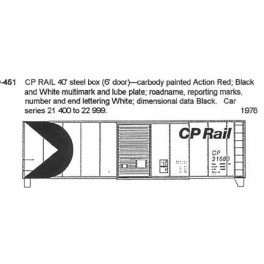 CDS DRY TRANSFER O-451 CANADIAN PACIFIC 40' BOXCAR
