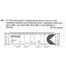 CDS DRY TRANSFER S-454 CANADIAN PACIFIC 4 BAY COVERED HOPPER