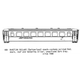 CDS DRY TRANSFER O-464  RHAETIAN RAILWAY PASSENGER CAR