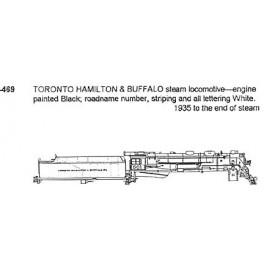 CDS DRY TRANSFER S-469 TORONTO HAMILTON & BUFFALO STEAM LOCOMOTIVE - S SCALE