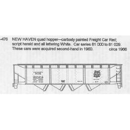 CDS DRY TRANSFER N-476  NEW HAVEN 4 BAY HOPPER - N SCALE