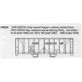 CDS DRY TRANSFER N-486 ANN ARBOR 2 BAY COVERED HOPPER - N SCALE