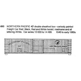 CDS DRY TRANSFER N-503  NORTHERN PACIFIC 40' BOXCAR