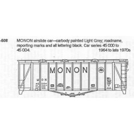 CDS DRY TRANSFER S-508  MONON SINGLE BAY AIRSLIDE - S SCALE