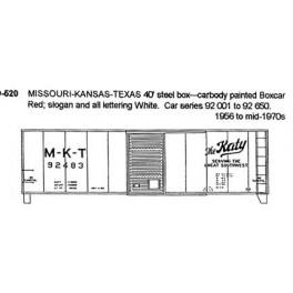 CDS DRY TRANSFER N-520  MISSOURI-KANSAS-TEXAS 40' BOXCAR - N SCALE