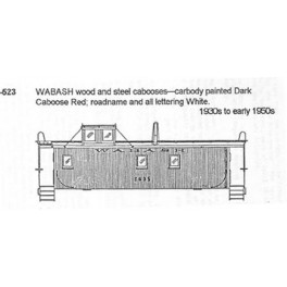 CDS DRY TRANSFER N-523  WABASH CABOOSE