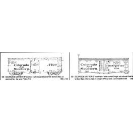 CDS DRY TRANSFER G-568  COLORADO & SOUTHERN 30' WOOD BOXCAR