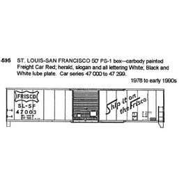 CDS DRY TRANSFER HO-595  ST. LOUIS - SAN FRANCISCO 50'  BOXCAR