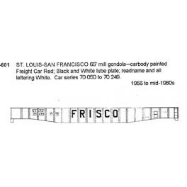 CDS DRY TRANSFER S-601  ST. LOUIS - SAN FRANCISCO 65' MILL GONDOLA