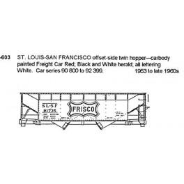 CDS DRY TRANSFER S-603  ST. LOUIS - SAN FRANCISCO 2 BAY HOPPER - S SCALE