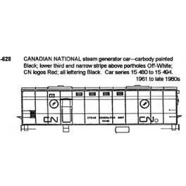 CDS DRY TRANSFER N-628 CANADIAN NATIONAL STEAM GENERATOR - N SCALE