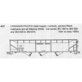 CDS DRY TRANSFER N-637 CANADIAN PACIFIC 3 BAY HOPPER