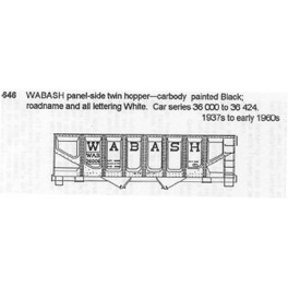 CDS DRY TRANSFER G-646  WABASH 2 BAY HOPPER