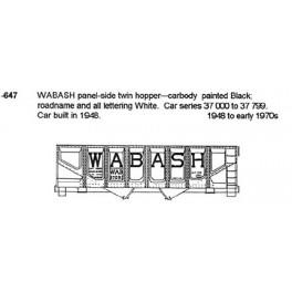 CDS DRY TRANSFER N-647  WABASH 2 BAY HOPPER