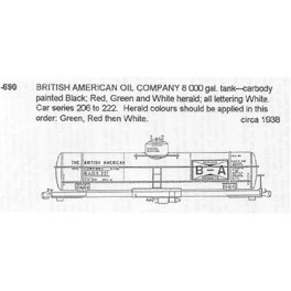 CDS DRY TRANSFER N-690  BRITISH-AMERICAN OIL TANK CAR
