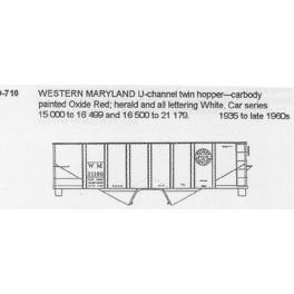 CDS DRY TRANSFER S-710  WESTERN MARYLAND 2 BAY HOPPER