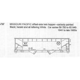 CDS DRY TRANSFER S-737  MISSOURI PACIFIC 2 BAY HOPPER