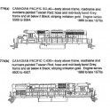 CDS DRY TRANSFER O-774 CANADIAN PACIFIC DIESEL LOCOMOTIVE