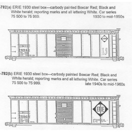 CDS DRY TRANSFER S-782  ERIE 40' BOXCAR