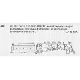 CDS DRY TRANSFER HO-140  WHITE PASS & YUKON STEAM LOCOMOTIVE