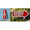 BLAIR LINE 1532 - EAT / BUSINESS DISTRICT BILLBOARD - HO SCALE