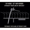 HI-TECH 6036 - STANDARD BRAKE HOSE SET FOR FREIGHT CARS