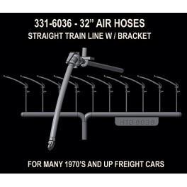 HI-TECH 6036 - STANDARD BRAKE HOSE SET FOR FREIGHT CARS - HO SCALE