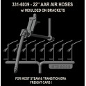 """HI-TECH 6039 - AAR 22"""" AIR HOSES - WITH BRACKETS - HO SCALE"""