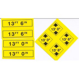 MID-MICHIGAN Y022 - TRAFFIC SIGNS - O SCALE