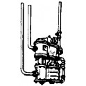 CAL-SCALE 190-346 - STEAM LOCOMOTIVE AIR PUMP WITH REMOTE STRAINER - HO SCALE