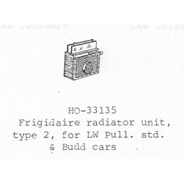 PSC 33135 - PASSENGER CAR FRIGIDAIRE RADIATOR
