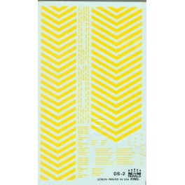 HERALD KING DECAL DS-2 - YELLOW DIESEL NOSE STRIPES