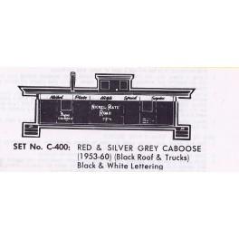 HERALD KING DECAL C-400 - NICKEL PLATE ROAD CABOOSE