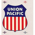 """CHAMP DECAL OH-75 UNION PACIFIC 75"""" SHIELD HERALD"""