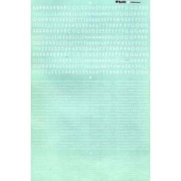 MICROSCALE DECAL 90141 - ART DECO ALPHABET - WHITE