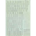 MICROSCALE DECAL 87-203-4 - SOUTHERN PACIFIC EXTENDED ROMAN ALPHABET - SILVER