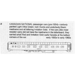 CDS DRY TRANSFER N-9NOS CANADIAN NATIONAL PASSENGER CAR